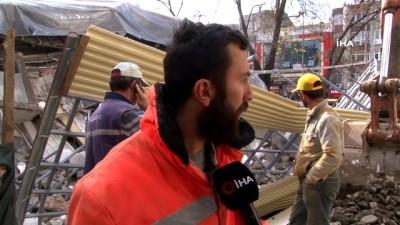 nadan -  Çöken binadan son anda kurtulan işçiler korku dolu anları anlattı