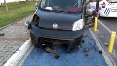 Babası uyurken arabayı kaçıran genç, drift yaparken polise yakalandı, kaza yaptı