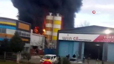 Samsun'da fabrika yangını Haberi