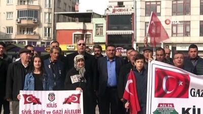 Kilis'e roketli saldırının yıl dönümünde basın açıklaması