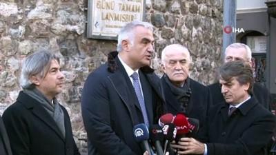 """Kültür ve Turizm Bakanı Mehmet Nuri Ersoy: """"Proje güzergahı üzerinde yer alan tarihi binalar kiralanarak restorasyon yapılacak"""""""