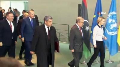 baskent -  - Cumhurbaşkanı Erdoğan, liderlerle aile fotoğrafı çektirdi - Berlin'de Libya konulu konferans başladı