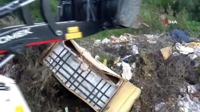 Ormandan çıkan 65 ton çöp görenleri şok etti