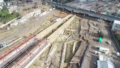 Haydarpaşa'daki arkeolojik kazılarda gelinen son durum görüntülendi İzle