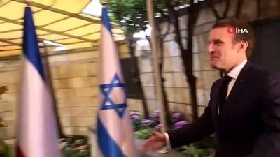 """- Fransa Cumhurbaşkanı Macron, İsrail Başbakanı Netanyahu ile görüştü - Netanyahu: """"Macron ile İran, Irak, Suriye, Lübnan, Türkiye ve Libya gibi birçok konu ele alındı' Haberi"""