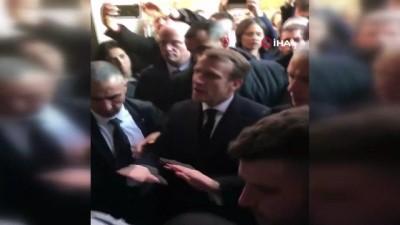 - Fransa Cumhurbaşkanı Macron, İsrail polisi ile tartıştı - İsrail polisine kızan Macron, onları kiliseden kovdu