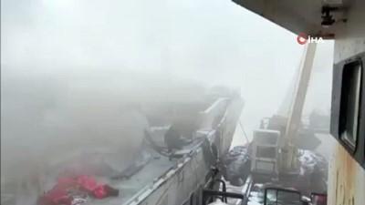 yangina mudahale -  - Rusya'da balıkçı teknesinde yangın