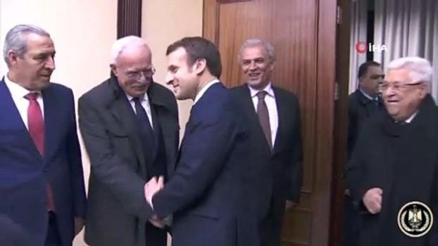 devlet baskanligi -  - Fransa Cumhurbaşkanı Macron, Filistin Devlet Başkanı Abbas ile görüştü
