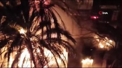 Metruk binadaki yangın mahalleliye korku dolu anlar yaşattı