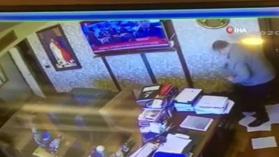 silahli kavga -  Avukatlık bürosundaki silahlı kavganın güvenlik kamera görüntüleri ortaya çıktı