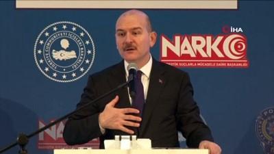 Bakan Soylu, Emniyet Genel Müdürlüğü Narkotik Suçlarla Mücadele Daire Başkanlığı'nca düzenlenen değerlendirme toplantısında konuştu