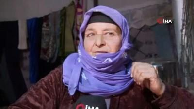 en yasli kadin -  - Engelli eşi ve kızlarıyla İdlib'den kaçan annenin dramı - Yaşlı kadın, engelli 2 kızı ve engelli eşiyle çadırda hayata tutunmaya çalışıyor