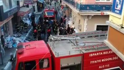 tahkikat -  Isparta'da çeyiz eşyası satan iş yerinde korkutan yangın