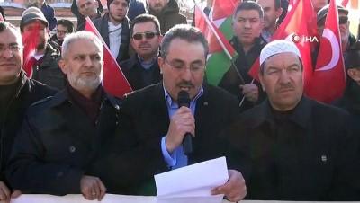 Manisa'da Cuma namazı sonrası İsrail'e tepki
