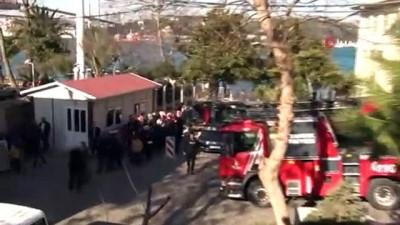 Beylerbeyi Polis Evi'nde yangın paniği