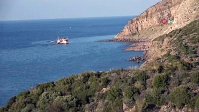 sahil guvenlik -  Çanakkale'de gırgır teknesi karaya oturdu