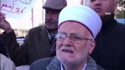 - Mescid-i Aksa'ya girişi yasaklanan Şeyh İkrime Sabri, İsrail'i protesto etti Haberi