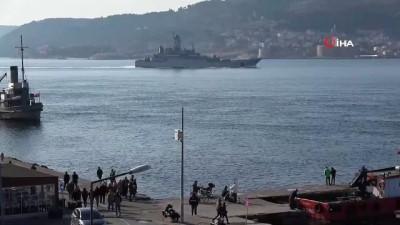 sahil guvenlik -  Rus savaş gemisi 'Azov', Çanakkale Boğazı'ndan geçti