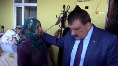 Vali Baruş ve Başkan Gürkan depremde hasar gören yerleri gezdi