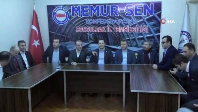 Ulaştırma Memur-Sen Genel Başkanı Kenan Çalışkan Zonguldak'ta
