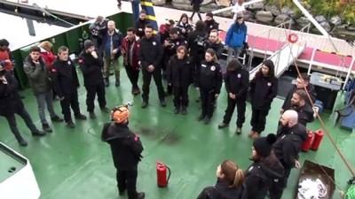 Antarktika'ya 4. Bilim Seferi'ni yapacak olan ekipten nefes kesen tatbikat