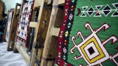 genc kiz -  Şanlıurfa'da kilim dokuma geleneği gün yüzüne çıkartılıyor