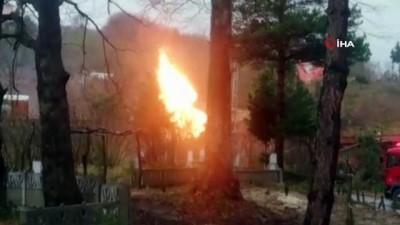 Ordu'da doğalgaz ana hattında patlama