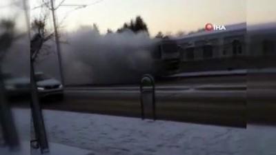 amator -  Personel servisi otobüs alev alev yandı