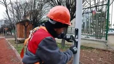 aydinlatma diregi -  Başkent'te ışıklandırma çalışmaları sürüyor