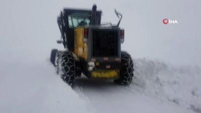 Bingöl'de yoğun kar yağışı...180 köy yolu ulaşıma kapandı