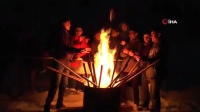 Erzurum'da 'kışa merhaba' festivali