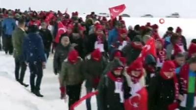 Hakkari 2 bin 800 rakımda şehitler için yürüyüş