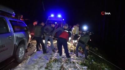 Otomobil 40 metreden uçtu: 1 ölü, 3 yaralı