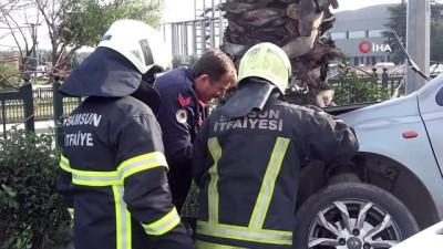 Samsun'da cip ile otomobil çarpıştı: 1 yaralı