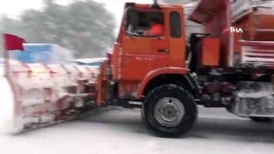 Kazdağları'nda kar kalınlığı 1 metreye ulaştı