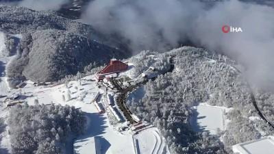 Kartepe'den kar manzaraları