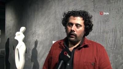 Üsküdar'da 'Ben, Sen, O' heykel sergisi açıldı