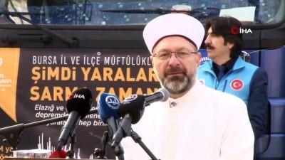 Bursa'dan İdlib ve Elazığ'a 41 TIR yardım dualarla yola çıktı