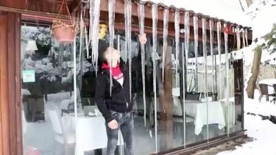 Safranbolu'da 1,5 metrelik sarkıtlar oluştu