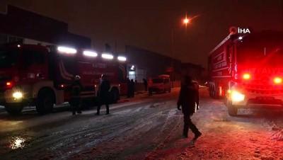 Kayseri'de korkutan fabrika yangını