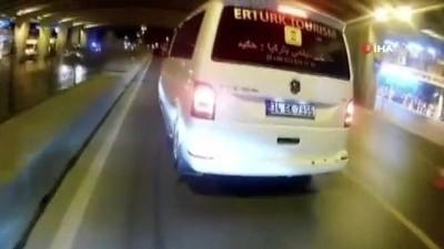 İstanbul'da polisin üzerine motosikletini sürüp kaçan maganda yakalandı