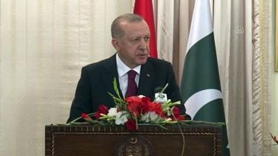 Erdoğan: 'Türkiye, Keşmir sorununun diyalog yoluyla, BM kararları temelinde, Keşmirli kardeşlerimizin beklentileri gözetilerek çözülmesinden yanadır' - İSLAMABAD