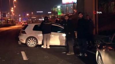 ticari arac -  Makas atan sürücü zincirleme kaza neden oldu: 1 yaralı