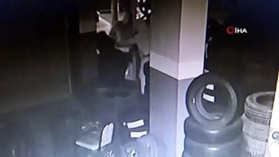 Maltepe'de 15 dakikada 30 bin liralık lastik hırsızlığı kamerada