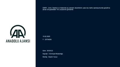 İzmir merkezli yasa dışı bahis operasyonunda 10 kişi tutuklandı - İZMİR