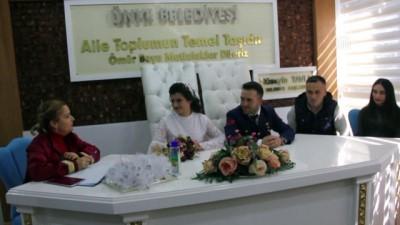 Sevgililer Günü'nde evlenen uzman çavuş, nikahına üniformasıyla katıldı - ORDU