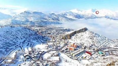 irak -  Beyaza bürünen Türkiye havadan görüntülendi Haberi