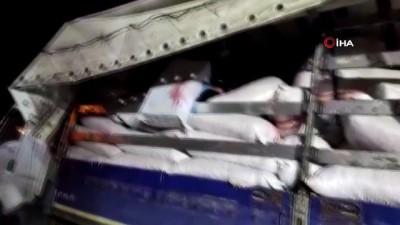 Fıstık çuvalları arasında gümrük kaçağı 38 bin paket sigara ele geçirildi