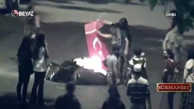 Vatan hainleri Gezi'de Türk Bayrağını yakmıştı