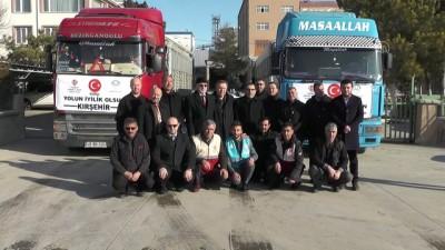Kırşehir'den İdlib'e 2 tır insani yardım gönderildi - KIRŞEHİR